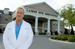 Dr. Michael Lange in front of The Lange Eye Institute.